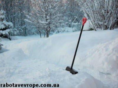 Работа в Швеции на уборке снега