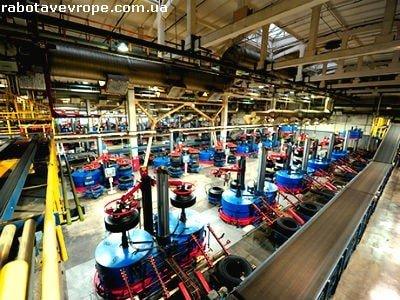 Работа в Чехии завод шин