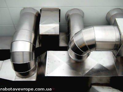 Работа в Латвии на монтаже вентиляции