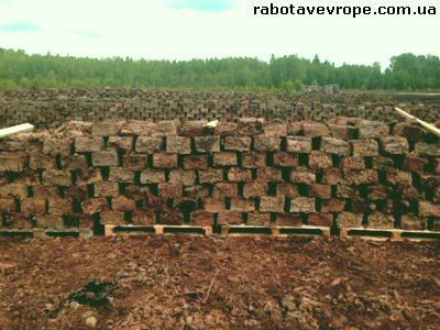 Работа в Латвии на погрузке торфа