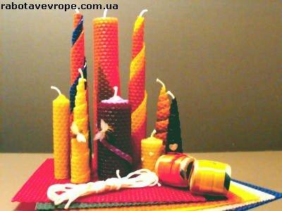 Работа в Польше на упаковке свечей