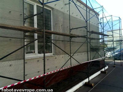 Работа в Словакии на ремонте строительных лесов
