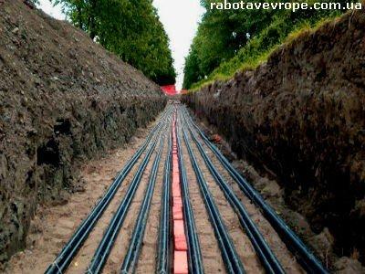 Работа в Германии на прокладке кабелей