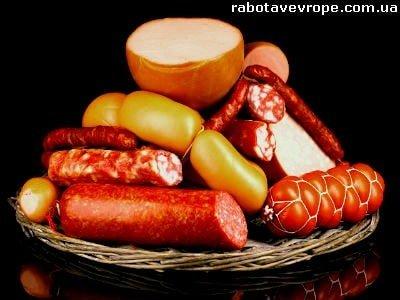 Работа в Чехии на упаковке колбасных изделий